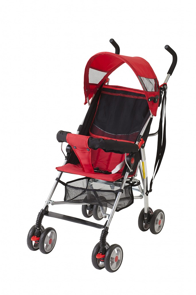 EzBrand Pushchair Black/Red